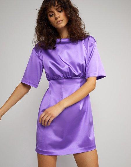 Cynthia Rowley Rush Stretch Satin Mini Dress - Ultra Violet