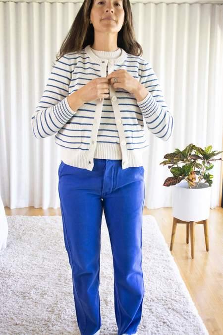 Alex Mill Stripe Honey Cardigan - Blue