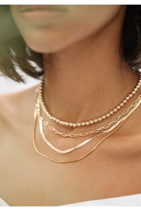 Alexa Leigh Link Chain Necklace - Gold