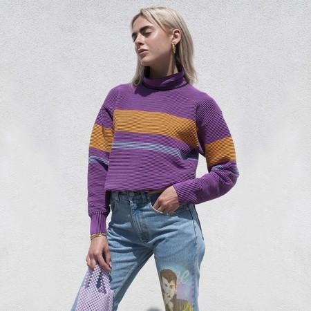 Nagnata Retro Rib Sweater - Purple Haze