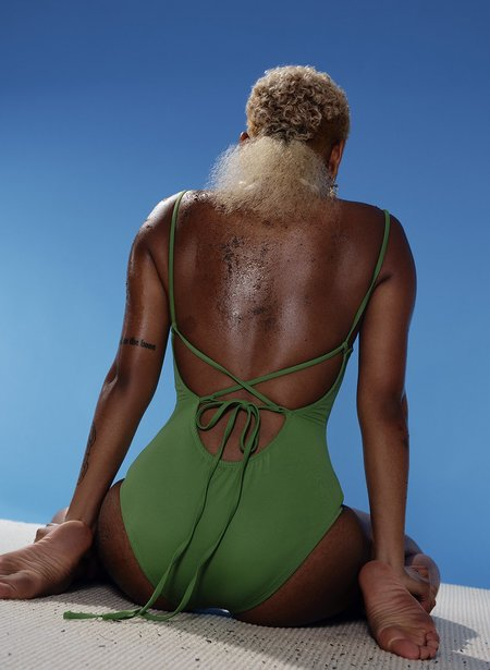 Eliza Faulkner Scoop Back One Piece - Emerald Green