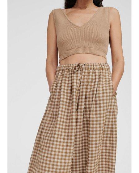 Mónica Cordera Checkered Maxi Pants