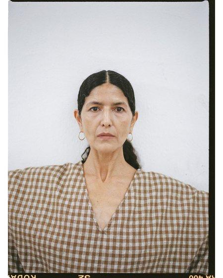 Mónica Cordera Checkered Maxi Dress - Breen