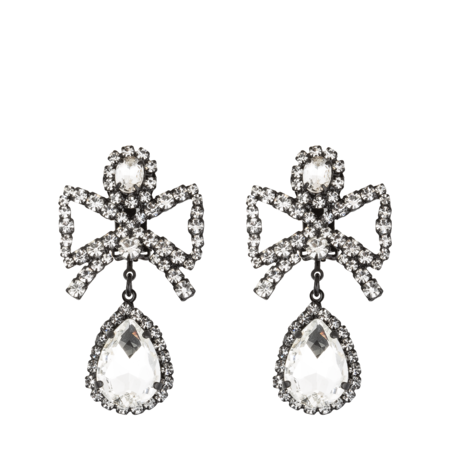 Ashley Williams Bow Earrings - Clear