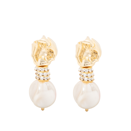 Beaufille Crinkle Studs - Yellow Gold