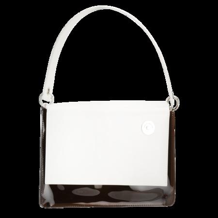 KARA Pinch Shoulder Bag - White/Brown