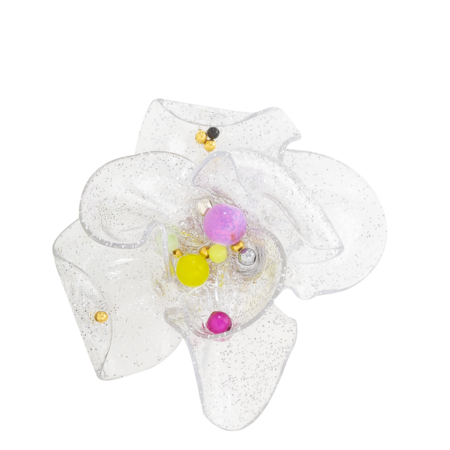 TETIER BIJOUX Plastic Flower Earring