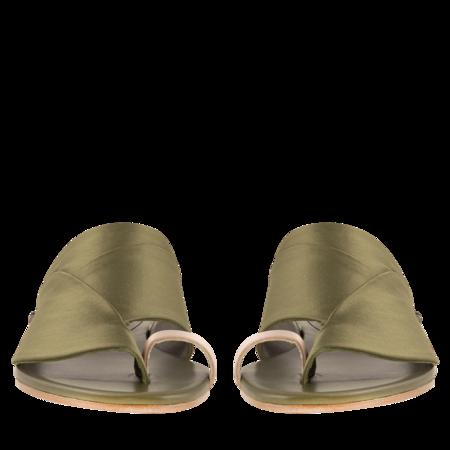 Esteban Cortazar Satin Detail Sandals -  Moss Green