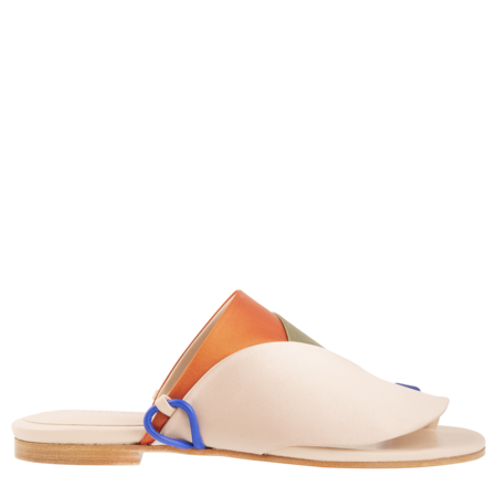 Esteban Cortazar Satin Detail Sandals - Multi