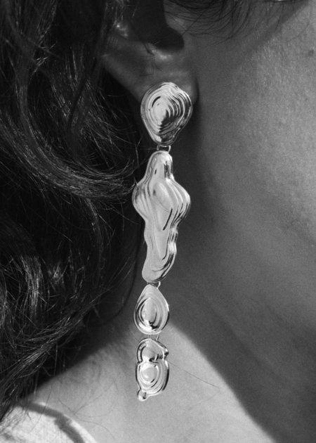 Leigh Miller Drip Earrings - Brass