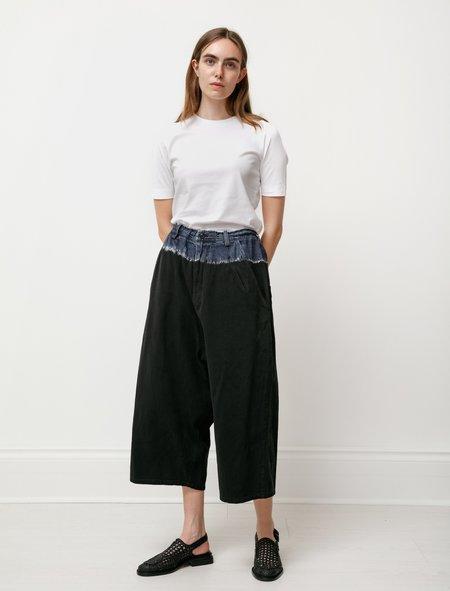 Y's by Yohji Yamamoto Reverse Tie Dye Big Jeans - black