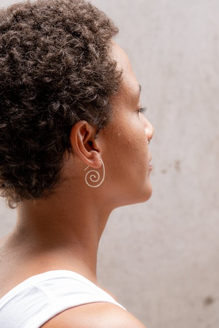Fixed Air Spiral Hanging Earrings