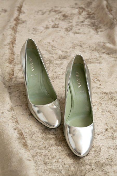 Vintage Prada Wedge - Silver