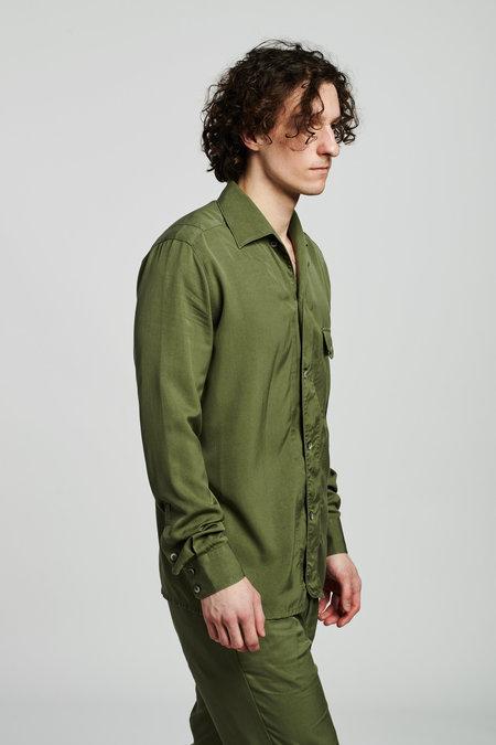 Delikatessen Rich Lyocell Overshirt - Olive