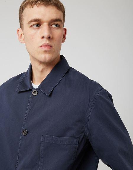 Portuguese Flannel Labura Cotton Jacket - Navy Blue