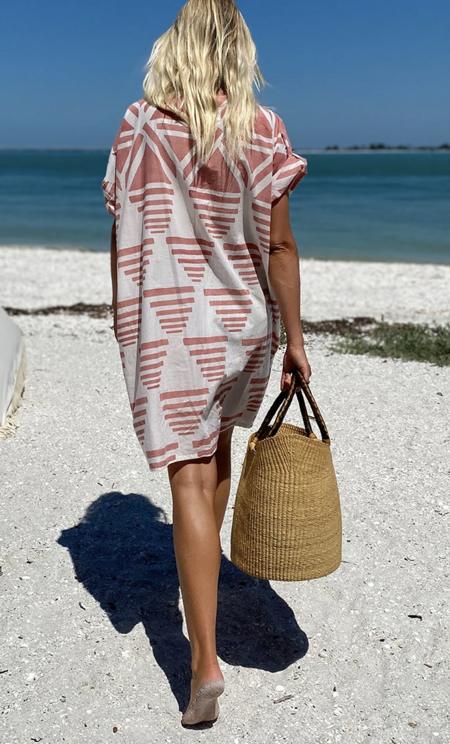 Emerson Fry Rise Caftan DRESS - Muted Clay