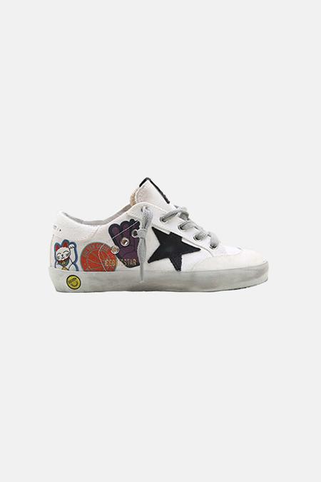 kids Golden Goose Superstar Shoes - White