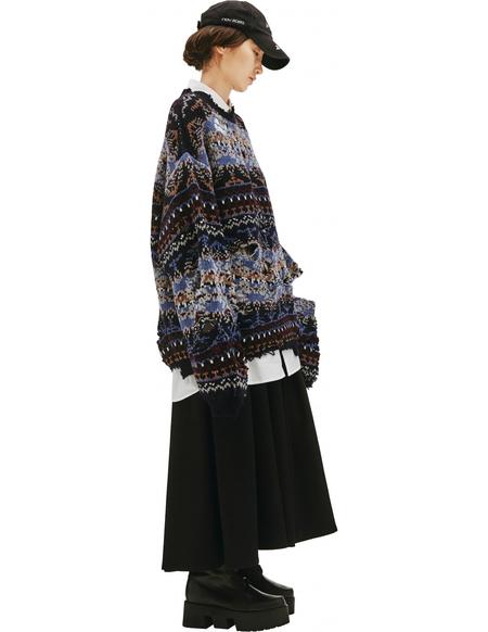 Balenciaga Ripped Sweater Patterned