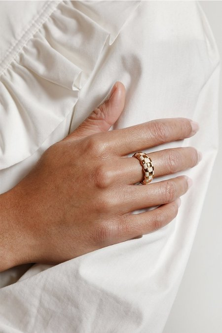 Wolf Circus Libby Ring - Cream/Gold