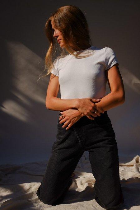 Lacausa Quincy Tee - Whitewash