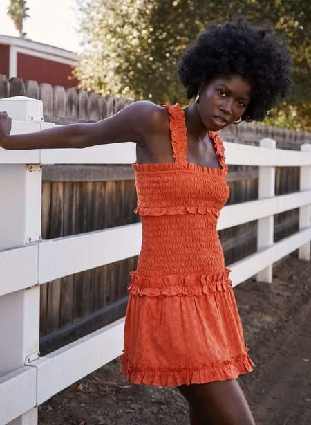 Saylor Yara Dress - Tangerine