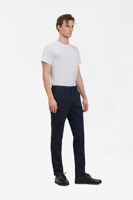Norse Projects Aros slim light stretch pants - dark navy