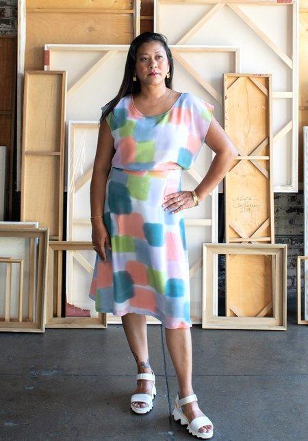 3rd Season Designs Rizzo Skirt - Color Blocks Print