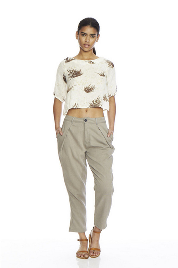 Objects Without Meaning Nadia Printed Linen Top
