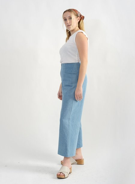 Meg  Odette Denim Pant - Blue