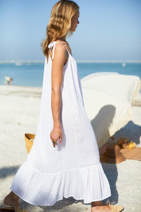 Emerson Fry India Dress - Dot stripe white