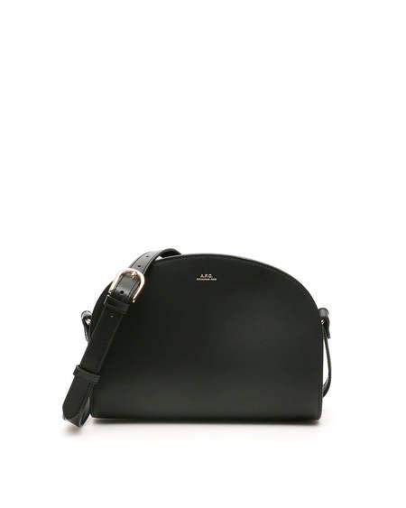 A.P.C. Demi Lune Leather Bag - Black