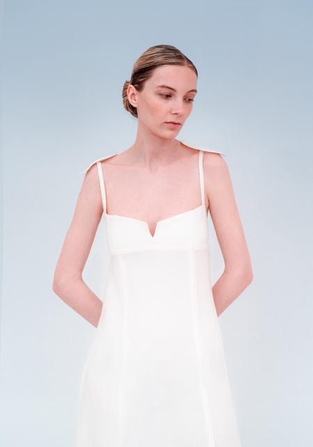 OK KINO V-neck dress - White