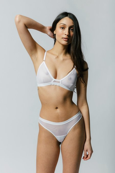 Mary Young Emery Bra - White