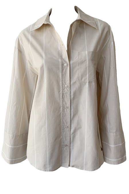 Anine Bing Allie Shirt - Camel Stripe