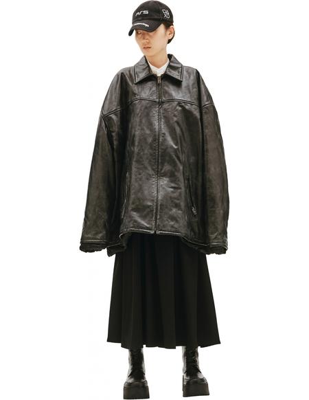 Balenciaga Black Oversize Leather Jacket