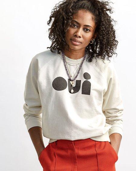 Clare V. Oui Sweatshirt - Cream