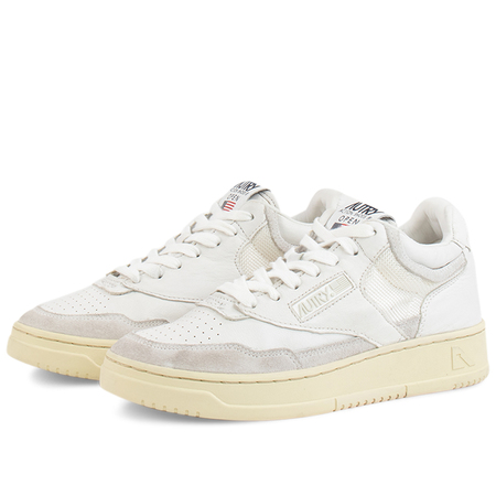 Autry Action autry mid man open sneakers - All White