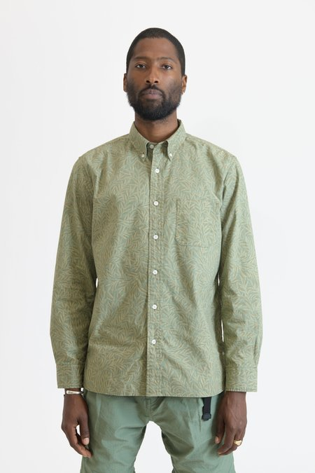 nonnative Dweller Cotton Ripstop Liberty Print L/S Shirt - Olive