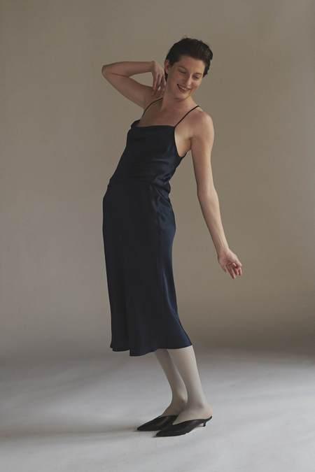 KES Nane Cowl Neck Silk Slip Dress - Aurum