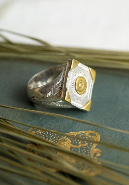 Ombre Claire Yanis Ring - Sterling Silver/Bronze