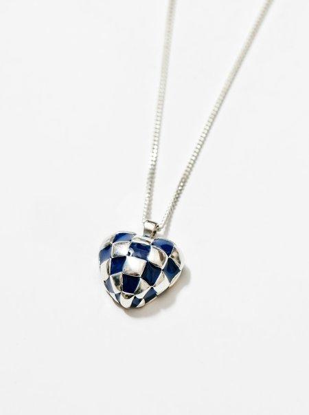 Wolf Circus Georgia Necklace - Blue/Silver