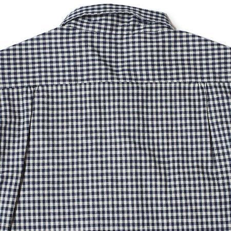 Warehouse & Co. S/S Open Collar Checkered Shirt - Navy