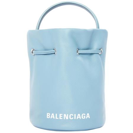 Balenciaga Blue Leather Everyday XS Bucket Bag