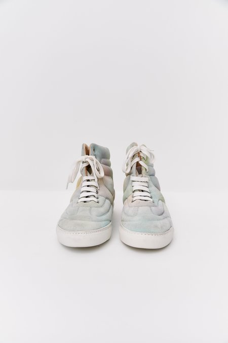 [Pre-Loved] Maison Margiela Suede High Top Sneakers - Pastel