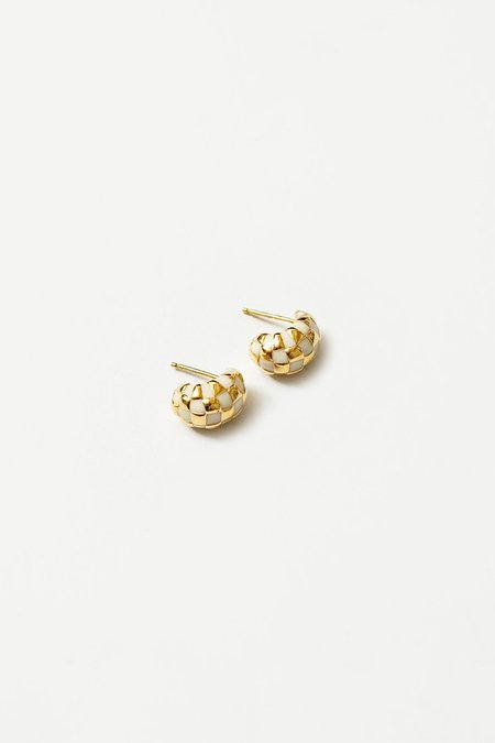Wolf Circus Small Nellie Earrings - Cream/Gold
