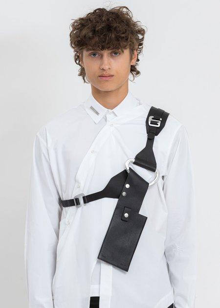 Heliot Emil LeathER Harness Phone Holder bag - black