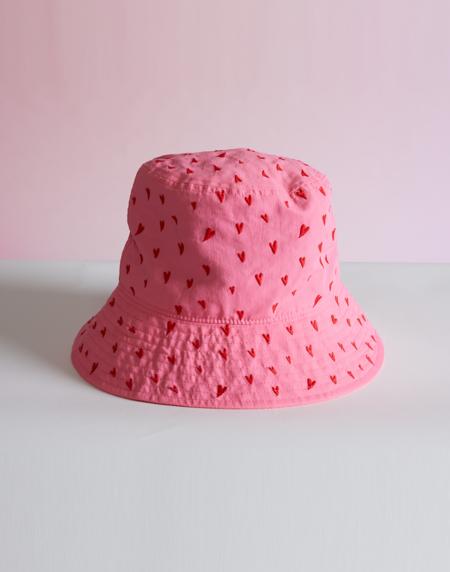 Cynthia Rowley Sweetheart Embroidered Bucket Hat - PNKRD