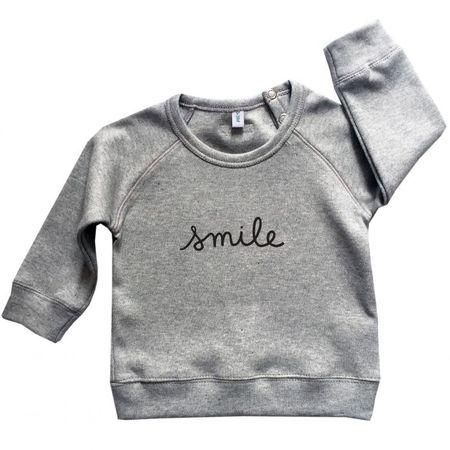 Organic Zoo Grey SMILE Sweatshirt & Striped Pants
