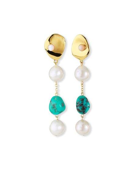 Lizzie Fortunato Sand Earrings - Turquoise