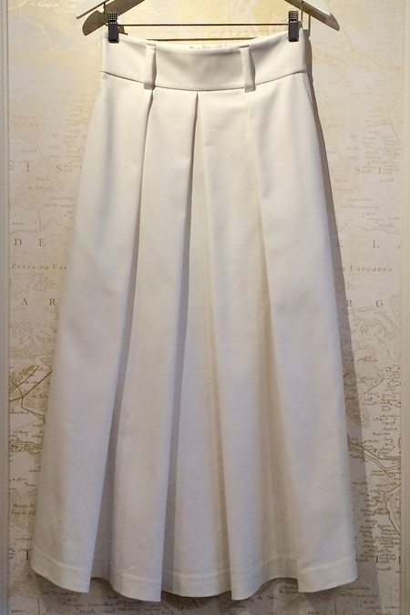 Tibi 'Agathe' Full Skirt with Rose Gold Buttons